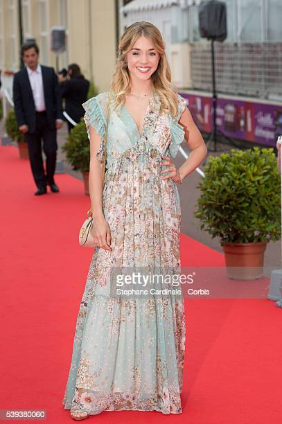 Actress Alice Issaz attends the 30th Cabourg Film Festival Day Three on June 10 2016 in Cabourg France