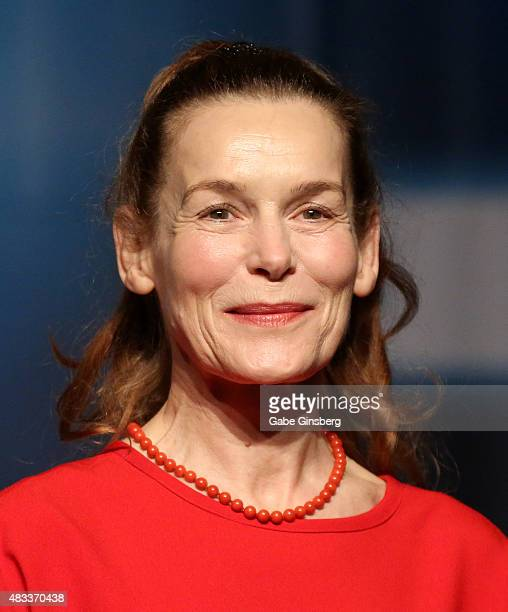 Actress Alice Krige speaks during the 14th annual official Star Trek convention at the Rio Hotel Casino on August 7 2015 in Las Vegas Nevada