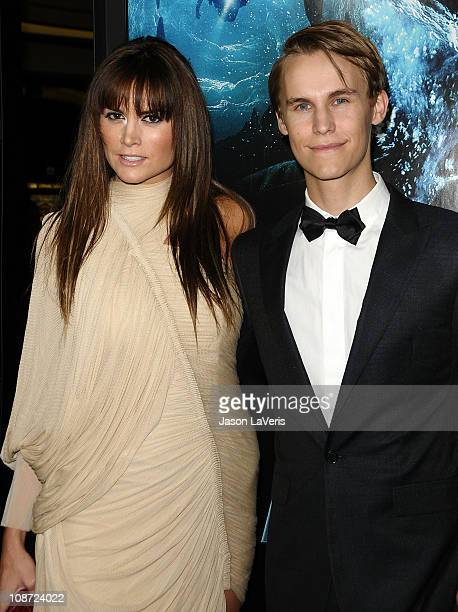 Actress Alice Parkinson and actor Rhys Wakefield attend the premiere of 'Sanctum' at Grauman's Chinese Theatre on January 31 2011 in Hollywood...