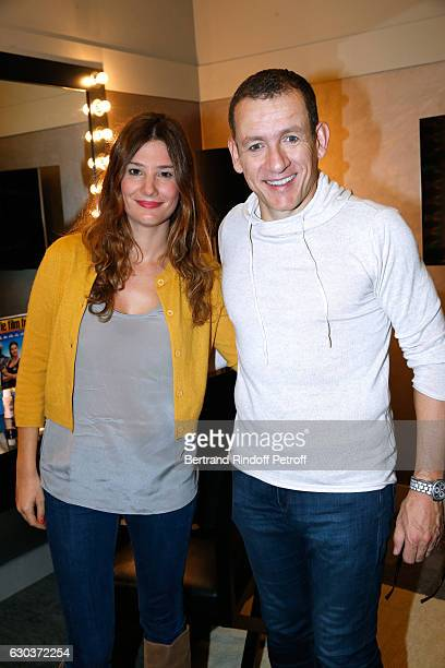 actress Alice Pol and Humorist Dany Boon pose Backstage after the triumph of the 'Dany De Boon Des HautsDeFrance' Show at L'Olympia on November 23...