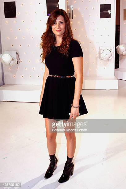 Actress Alice Pol attends 'Vivement Dimanche' TV Show at Pavillon Gabriel on November 25 2015 in Paris France