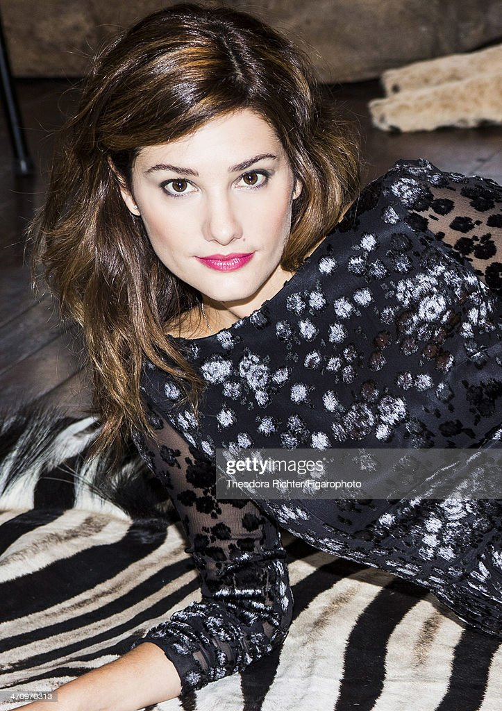 108545-007. Actress Alice Pol is photographed for Madame Figaro on December 2, 2013 in Paris, France. Dress (Delphine Manivet). PUBLISHED IMAGE.