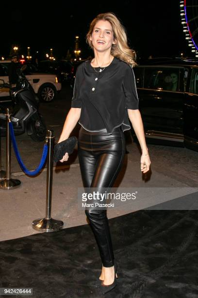Actress Alice Taglioni arrives to attend the 'Madame Figaro' dinner at Automobile Club de France on April 5 2018 in Paris France