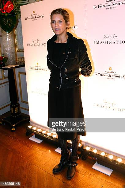 Actress Alice Taglioni attends 'ShangriLa Hotels and Resorts' presents its new Hotel in Mauritius 'Le Touessrok Resort and Spa' Held at Paris...