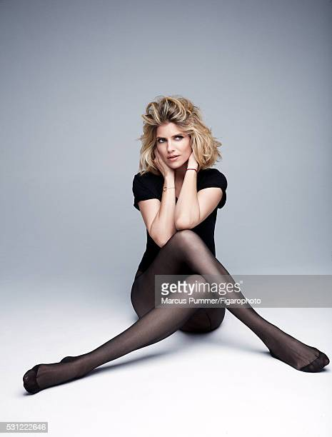 Actress Alice Taglioni is photographed for Madame Figaro on April 7 2016 in Paris France Tshirt tights bracelet Makeup by Nars Cosmetics PUBLISHED...