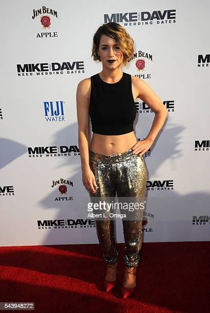 Actress Alice Wetturland arrives for the Premiere Of 20th Century Fox's Mike And Dave Need Wedding Dates held at the ArcLight Cinemas Cinerama Dome...