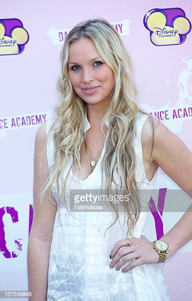 Actress Alicia Banit attends 'Dance Academy' photocall at Disney Channel on September 27 2011 in Madrid Spain