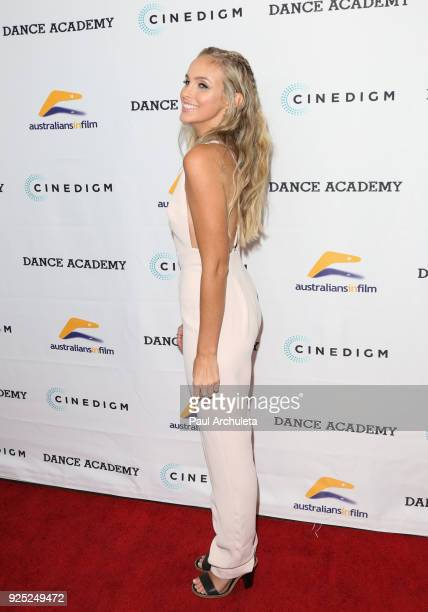 Actress Alicia Banit attends the premiere of Dance Academy The Comeback at Raleigh Studios on February 27 2018 in Los Angeles California