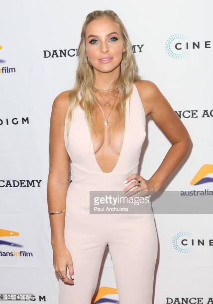 Actress Alicia Banit attends the premiere of 'Dance Academy The Comeback' at Raleigh Studios on February 27 2018 in Los Angeles California