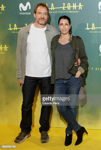 Actress Alicia Borrachero and Ben Temple attend attends the 'La Zona' premiere at Capitol cinema on October 25 2017 in Madrid Spain