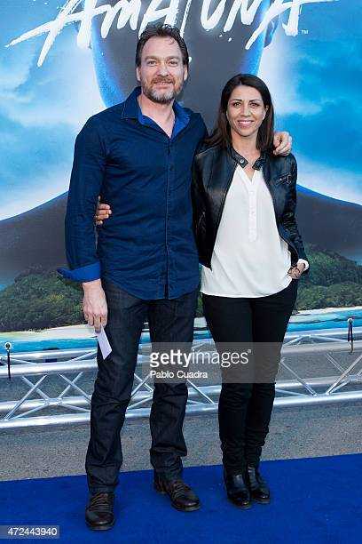 Actress Alicia Borrachero and Ben Temple attend the 'Cirque Du Soleil' photocall on May 7 2015 in Madrid Spain