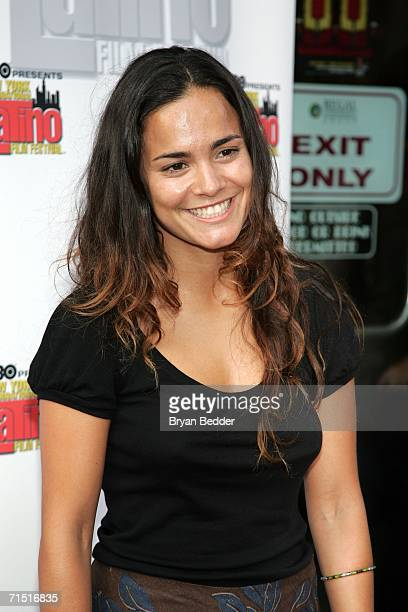 Actress Alicia Braga arrives at the premiere of 'Solos Dios Sabe' during the New York International Latino Film Festival on July 25 2006 in New York...