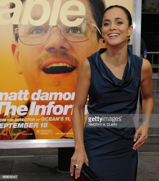 Actress Alicia Braga arrives at the Ziegfeld Theatre for the New York Premier of ' The Informant' on September 15 2009 AFP PHOTO / TIMOTHY A CLARY