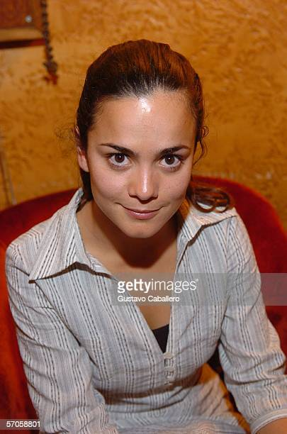 Actress Alicia Braga poses at the GusmanTheater at the screening of the film 'Solo Dios Sabe' on March 10 2006 in Miami Florida