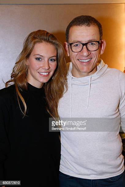 Actress Alicia Endemann and humorist Dany Boon pose Backstage after the triumph of the 'Dany De Boon Des HautsDeFrance' Show at L'Olympia on December...