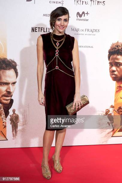 Actress Alicia Fernandez attends 'El Cuaderno De Sara' premiere at the Capitol cinema on January 31 2018 in Madrid Spain