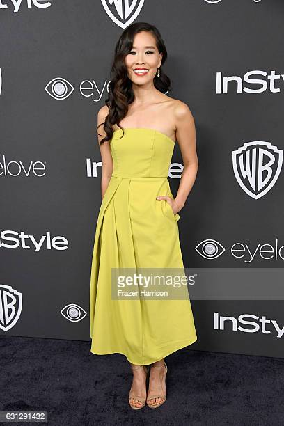 Actress Alicia Hannah attends the 18th Annual PostGolden Globes Party hosted by Warner Bros Pictures and InStyle at The Beverly Hilton Hotel on...