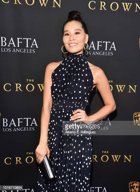 Actress Alicia Hannah attends the BAFTALA Summer Garden Party at The British Residence on August 19 2018 in Los Angeles California
