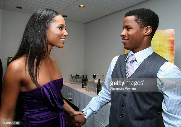 Actress Alicia Keys and actor Nate Parker arrive at Fox Searchlight's The Secret Life Of Bees premiere held at Roy Thomson Hall during the 2008...