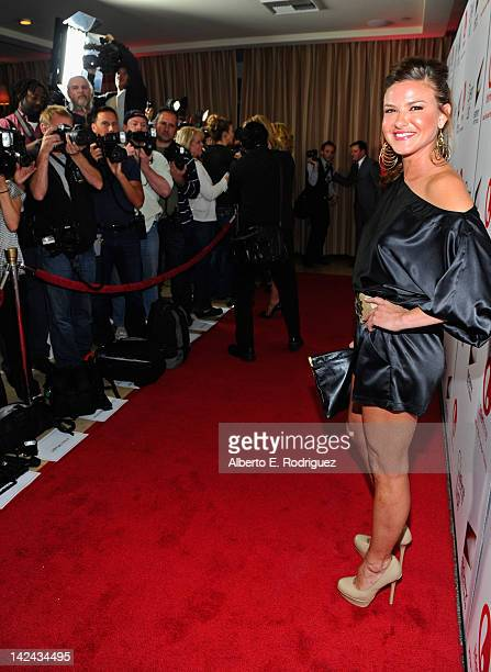 Actress Alicia Lagano attends the red carpet launch party for Lifetime and Sony Pictures' 'The Client List' at Sunset Tower on April 4 2012 in West...