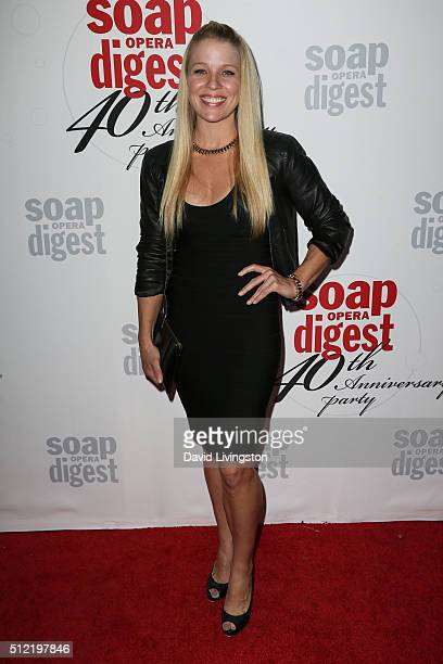 Actress Alicia Leigh Willis arrives at the 40th Anniversary of the Soap Opera Digest at The Argyle on February 24 2016 in Hollywood California