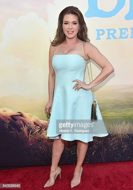 Actress Alicia Machado arrives on the red carpet for the US premiere of Disney's 'The BFG' directed and produced by Steven Spielberg A giant sized...