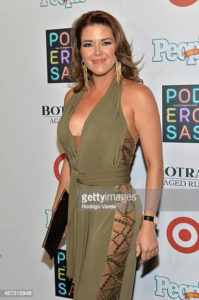 Actress Alicia Machado attends Las 25 Mujeres Mas Poderosas de People en Espanol luncheon at Coral Gables Country Club on October 16 2014 in Coral...