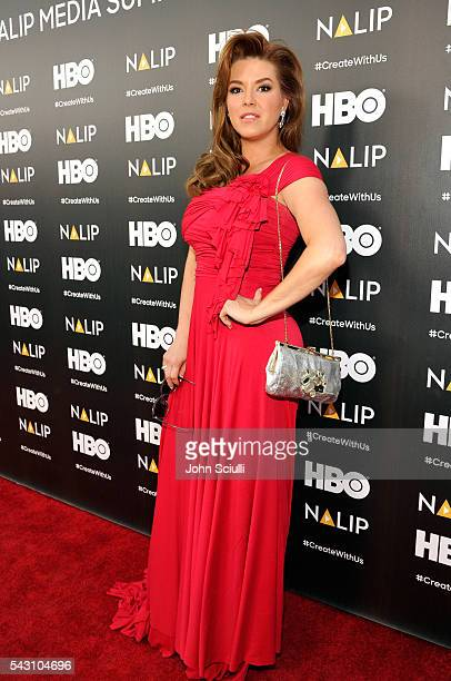 Actress Alicia Machado attends the NALIP 2016 Latino Media Awards at Dolby Theatre on June 25 2016 in Hollywood California