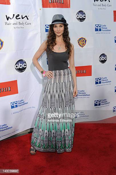 Actress Alicia Minshew arrives at the Band From TV's 2nd Annual Block Party On Wisteria Lane at Universal Studios Backlot on April 21 2012 in...