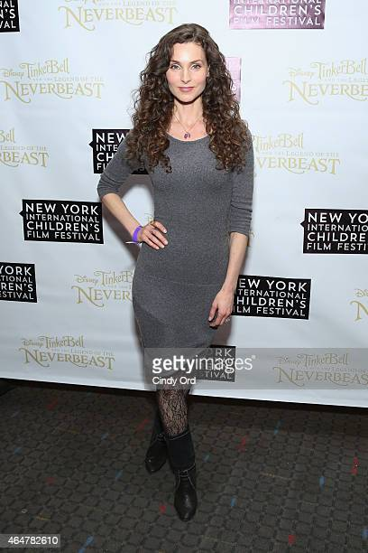 Actress Alicia Minshew attends Disneys 'Tinker Bell and the Legend of the NeverBeast' NYICFF Special Screening at SVA Theatre on February 28 2015 in...