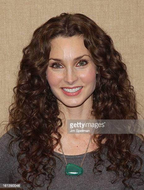 Actress Alicia Minshew attends the Spontaneous Construction premiere at Guys American Kitchen Bar on February 10 2013 in New York City