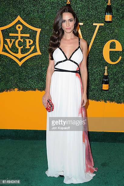 Actress Alicia Sanz arrives at the 7th Annual Veuve Clicquot Polo Classic at Will Rogers State Historic Park on October 15 2016 in Pacific Palisades...