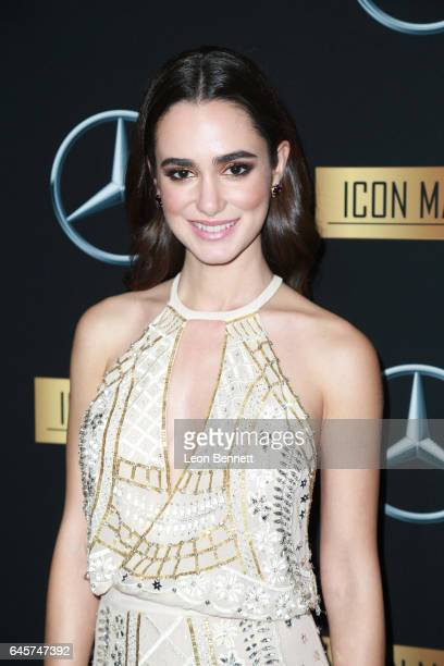 Actress Alicia Sanz arrives at the MercedesBenz x ICON MANN 2017 Academy Awards Viewing Party at Four Seasons Hotel Los Angeles at Beverly Hills on...