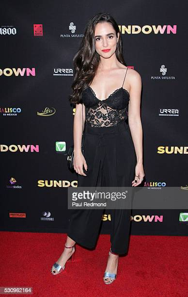 Actress Alicia Sanz arrives at the Premiere of Pantelion Films' 'Sundown' at ArcLight Hollywood on May 11 2016 in Hollywood California