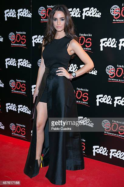 Actress Alicia Sanz attends 'Folli Follie' new charity collection presentation on October 21 2014 in Madrid Spain
