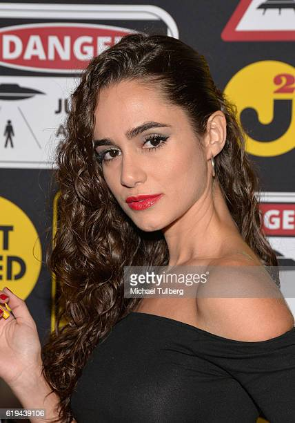 Actress Alicia Sanz attends Just Jared's Annual Halloween Party at Tenants of the Trees on October 30 2016 in Los Angeles California