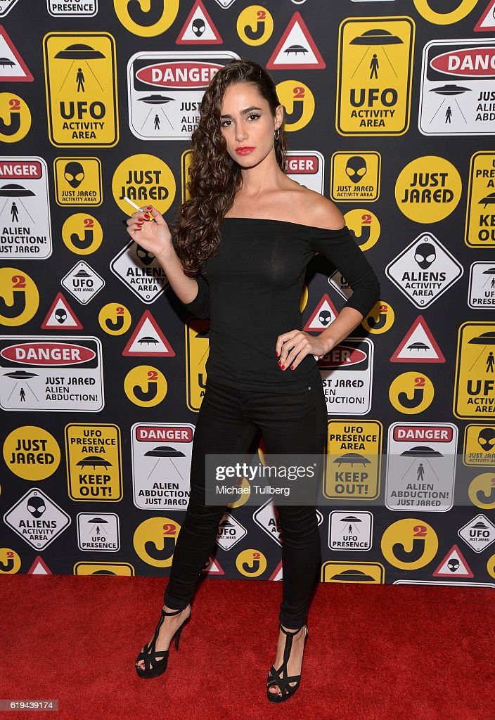 Actress Alicia Sanz attends Just Jared's Annual Halloween Party at Tenants of the Trees on October 30, 2016 in Los Angeles, California.