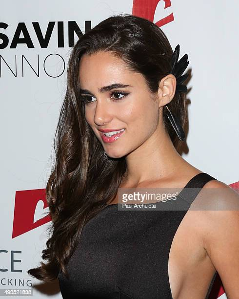 Actress Alicia Sanz attends the 4th Annual Saving Innocence Gala at SLS Hotel on October 17 2015 in Beverly Hills California