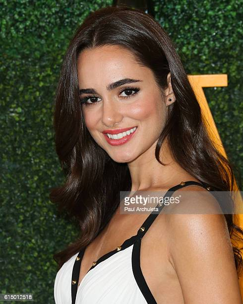 Actress Alicia Sanz attends the 7th Annual Veuve Clicquot Polo classic at Will Rogers State Historic Park on October 15 2016 in Pacific Palisades...