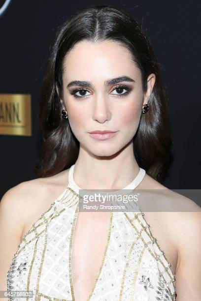 Actress Alicia Sanz attends the Annual MercedesBenz ICON MANN 2017 Awards viewing party at Four Seasons Hotel Los Angeles at Beverly Hills on...