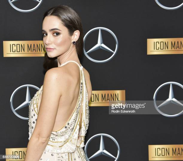 Actress Alicia Sanz attends the MercedesBenz x ICON MANN 2017 Academy Awards Viewing Party at Four Seasons Hotel Los Angeles at Beverly Hills on...