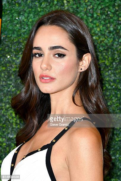 Actress Alicia Sanz attends the Seventh Annual Veuve Clicquot Polo Classic at Will Rogers State Historic Park on October 15 2016 in Pacific Palisades...