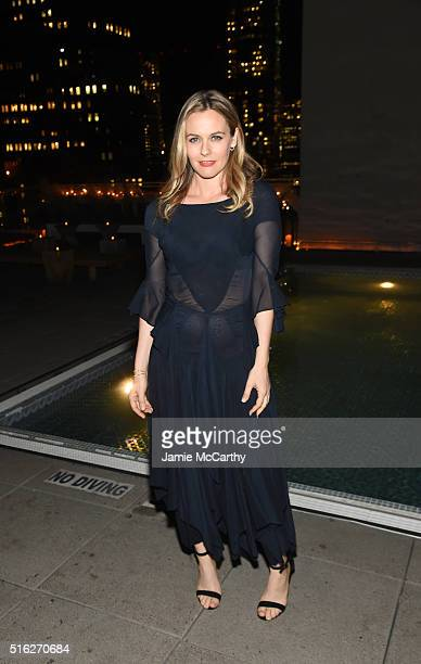 Actress Alicia Silverston attends the After Party for a screening of Sony Pictures Classics' 'The Bronze' hosted by the Cinema Society SELF at The...