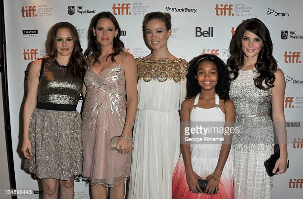 Actress Alicia Silverstone actress/ producer Jennifer Garner actresses Olivia Wilde Yara Shahidi and Ashley Greene arrive at 'Butter' Premiere at Roy...