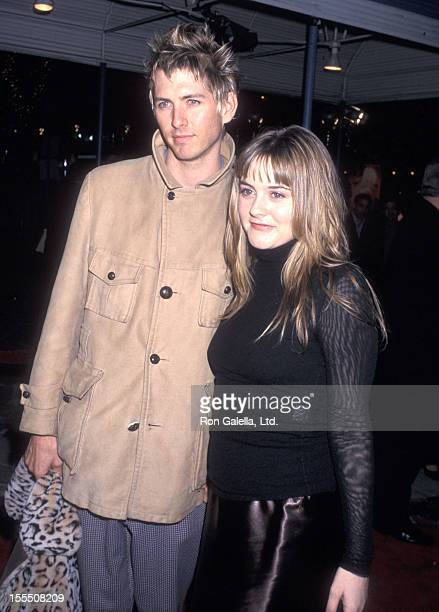 Actress Alicia Silverstone and boyfriend Christopher Jarecki attend The Talented Mr Ripley Westwood Premiere on December 12 1999 at Mann Village...
