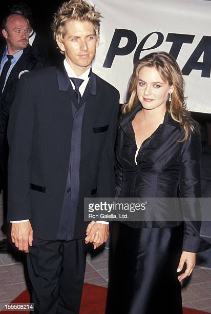 Actress Alicia Silverstone and boyfriend Christopher Jarecki attend PETA Honors the Animal Rights Movement on September 18 1999 at Paramount Studios...