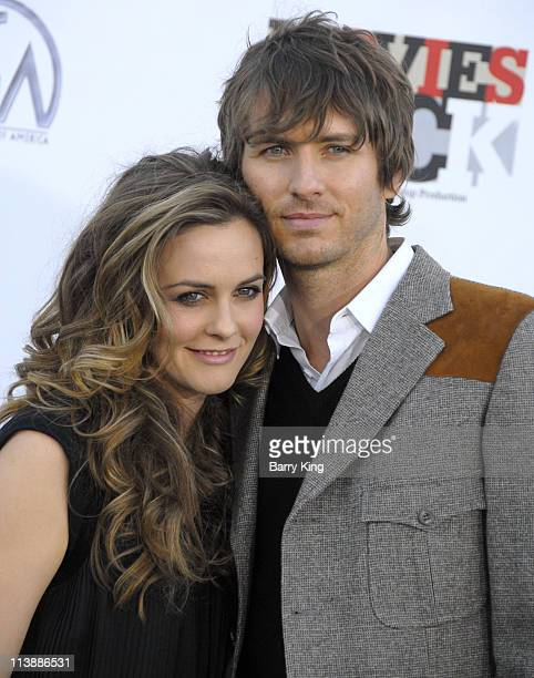 Actress Alicia Silverstone and Christopher Jarecki arrive at the Conde Nast Media Group's 2007 Movies Rock at the Kodak Theater on December 2 2007 in...