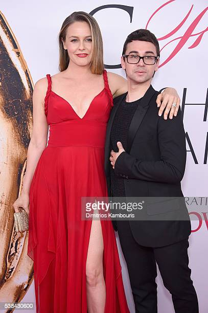 Actress Alicia Silverstone and designer Christian Siriano attend the 2016 CFDA Fashion Awards at the Hammerstein Ballroom on June 6 2016 in New York...