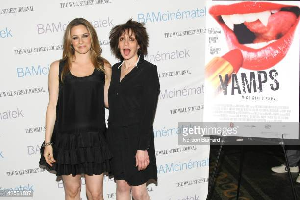 Actress Alicia Silverstone and director Amy Heckerling attends the sneak preview of Heckerling's 'Vamps' and the 'Clueless' screening during Hey...