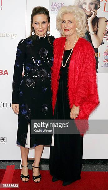 Actress Alicia Silverstone and her mother Didi Silverstone arrive at Hollywood Life Magazine's Breakthrough of the Year Awards at the Music Box at...
